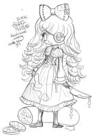 Black Pudding Chibi Commission - Sketch by YamPuff