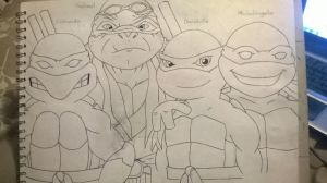 TMNT Generations 2 outline by DonatelloHawkx