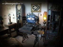 Steampunk Computer, Steampunk Room by steamworker