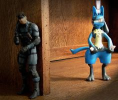 Lucario spotting Snake by AnimatorAR
