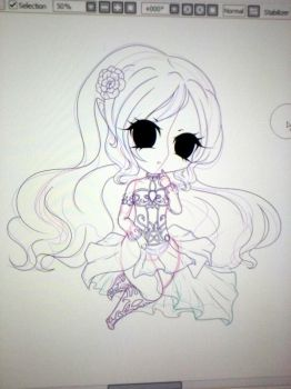 WIP Chibi Comission (sale) for MagicCrazyMagician by Corichii