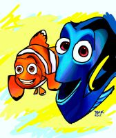 NEMO IPAD DRAWING by artsyfartsyness