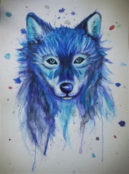 Watercolour Wolf by DD246