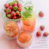 Rhubarb and lime drink by Pokakulka