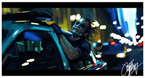 Dark Knight Joker Painting 2 by kyle-lambert