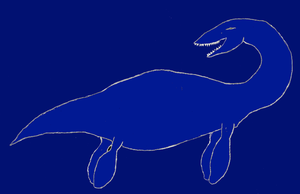 Plesiosaur Sketch Rough Color by YAYProductions