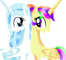 Snowflake and Samerlin by Raffa-Alla
