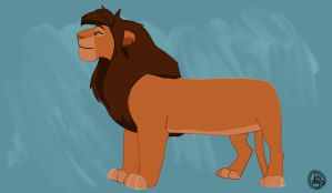 Sarabi As A Male Lion by dyb
