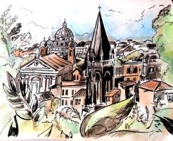 Rome- Looking South West by Alerane