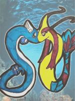 Mysticalshipping: Dragonair x Milotic by xXmariisa23Xx