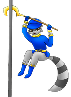 Sly Cooper colored by MikariStar