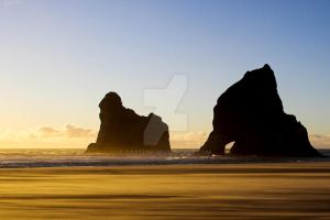Wharariki Sunset by carterr