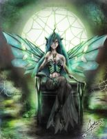 Humanized Chrysalis Queen by MIKEANGEL1
