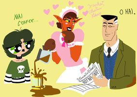 Otto Time Cafe scribble 2 by LadyKeane