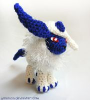 Absol Pokemon Amigurumi by yarnmon