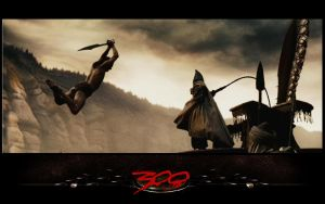 Attacking a persian warrior by CelesVictoria007