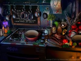 Kitchen Stove by kidy-kat