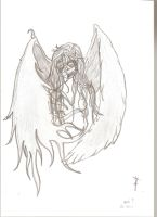 10 Years old drawing of angel by Yoriuchi