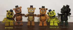 five nights at freddy's Freddy TimeLine Papercraft by Adogopaper