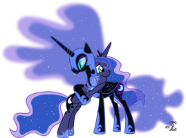 Nightmare Moon and Princess Luna Hugging by 90Sigma
