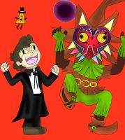 80 point commission Bipper and Skullkid by kingofthedededes73