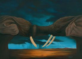 THE YIN AND YANG OF ELEPHANTS by VisionaryImagist