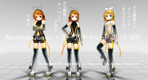 XS Hagane Rin WIP (Now in PMX) by MeerkatQueen