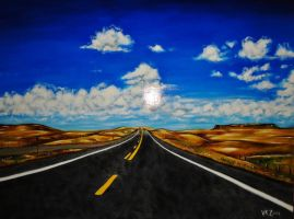 Road Painting by VanZanto