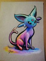 Colorful Espeon by Jaylynessa