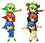 Triforce Heroes by Icy-Snowflakes