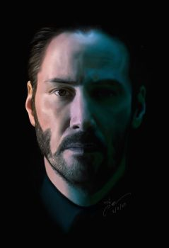 Realistic Painting John Wick | Ipad art : Procreat by Anweer