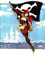 Pirate Harlequin by Lovely-Whimsy