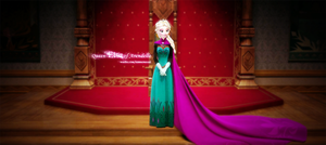 Queen elsa by meowxiaoshou