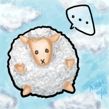Sheep in the sky by anbumoo