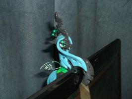 Queen Chrysalis Laptop Hugger (on laptop, RS) by DeadHeartMare