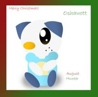Oshawott wants to wish a Merry Christmas by Augie-Ottie