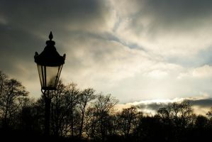 Lamppost and sky by GoldenDani