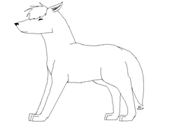 Free Wolf Lineart by cocobeanc