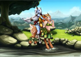 league of legends + Dota2 by Barbariank