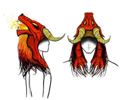 Runefest Headgear Concept A by Fraxuur