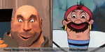 Gmod Heavy Weapons Guy totally looks like Bluto by killb94