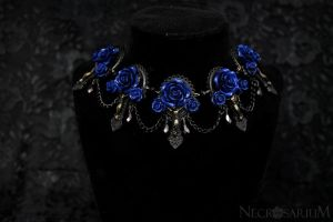 Blue Vampire's Requiem Necklace by Necrosarium