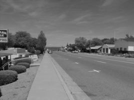 Main Street Yarnell, Arizona by SquirrelWitch
