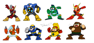 Robot Masters Sketch - MM2 by JonCausith