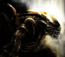 Xenomorph Warrior Speedpaint by Leucove