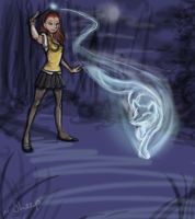 Harry Potter AU: Lucy Patronus by Sockless-Sheep