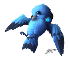Commission - Blue Bird by NezuPanda