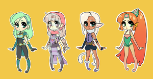 Adoptables - Adventure Set by starexorcist