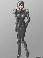 Cyborg hostess design from 2009 by vanSchalk