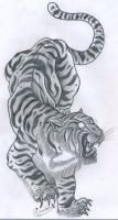 Japanese style tiger by Genocide-Al